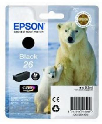 CARTUCCIA EPSON 26 NERO ORIGINALE (Cod. T2601)