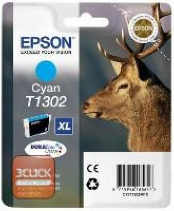 CARTUCCIA EPSON T1302 CIANO ORIGINALE (Cod. EPST13024010)